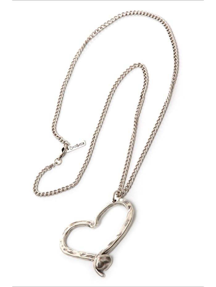 ÖkoBella Öko Halskette Sweet mit plastikfreiem Versand, altsilberfarben