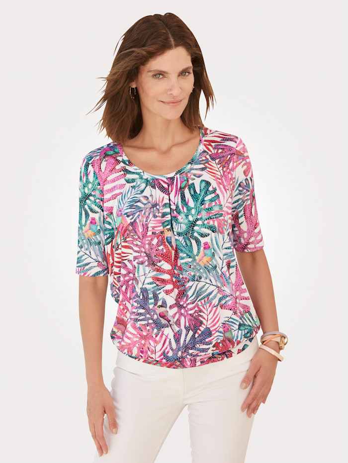 ERFO Shirt mit Allover-Druck, Pink/Multicolor