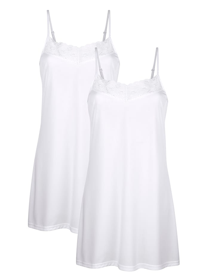 Südtrikot Unterkleider im 2er-Pack mit antistatischer Ausrüstung, Weiß