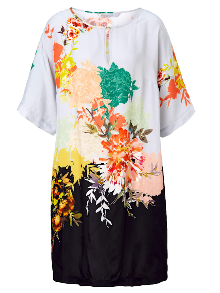 summum Kleid Mit floralem Druck, Hellblau