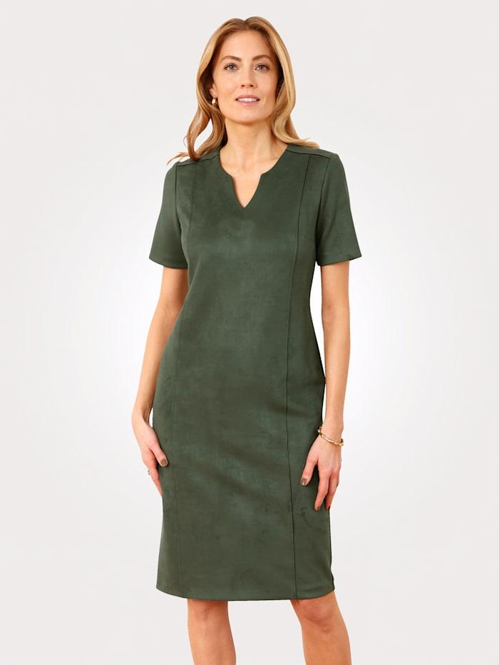 Kleid aus Velours-Lederimitat
