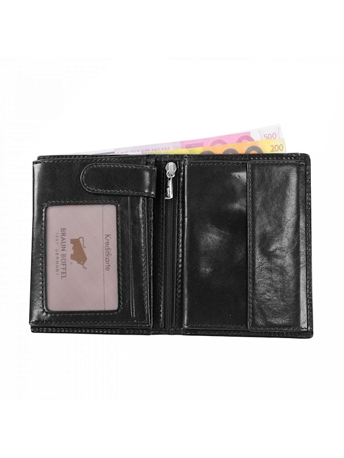 Basic Geldbörse V Leder 9,5 cm