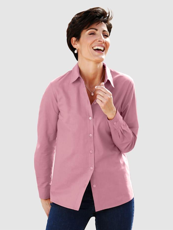 Paola Bluse med klassisk skjortekrage, Gammelrosa