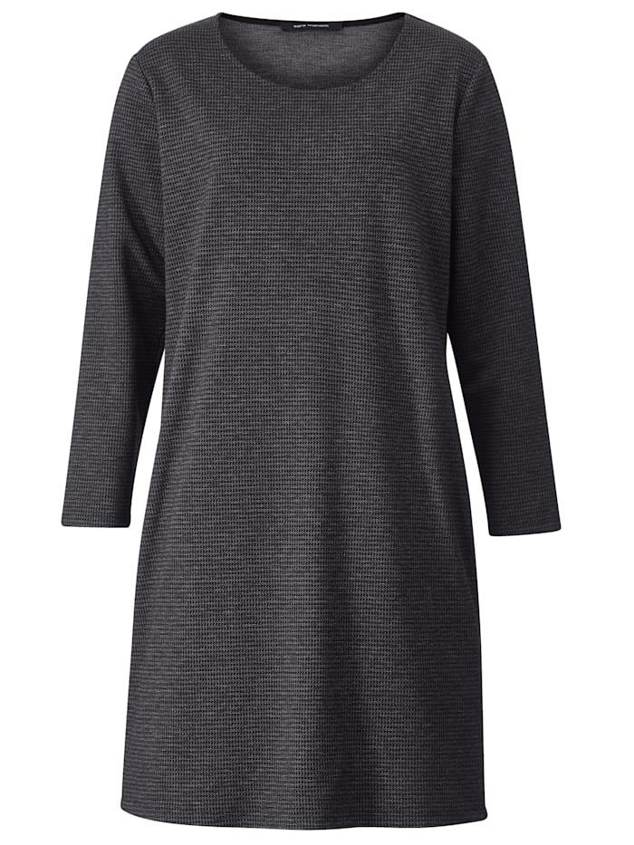 Jersey jurk met structuur