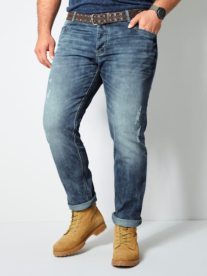 Top Gun Jeans mit destroyed Effekten, Hellblau