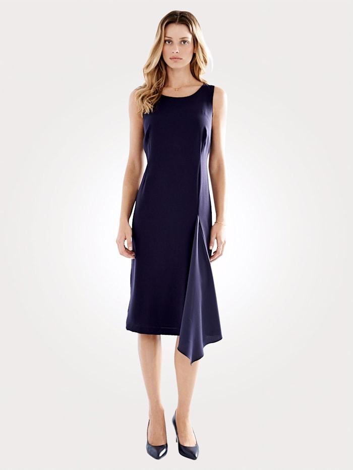 Artigiano Kleid mit asymmetrischem Einsatz, Marineblau
