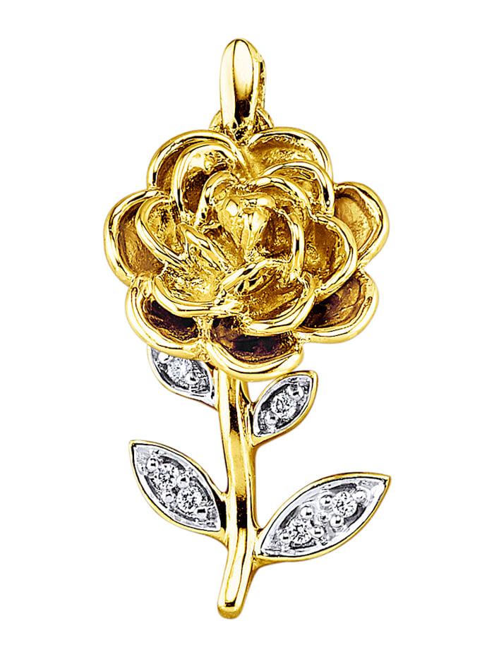 "Amara Highlights Pendentif ""Roses"", Coloris or jaune"