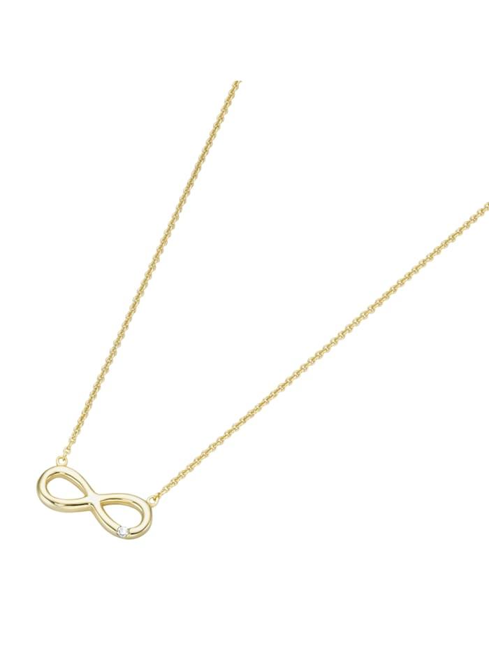 Luigi Merano Collier Infinity, mit Brillant, Gold 585, Gold