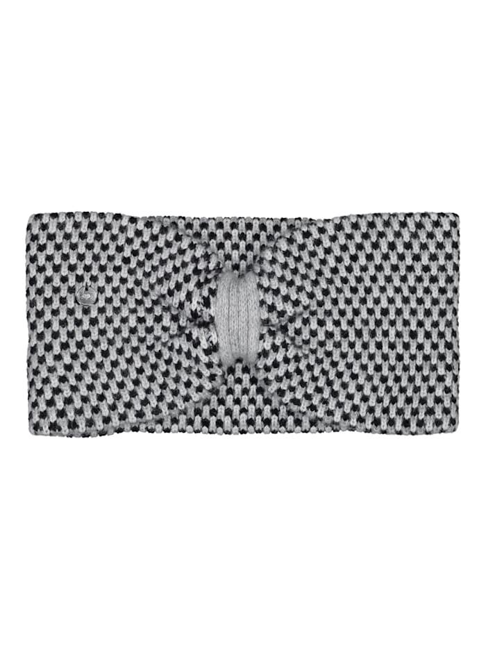 Codello Strick-Stirnband in softem Wolle-Mix, black