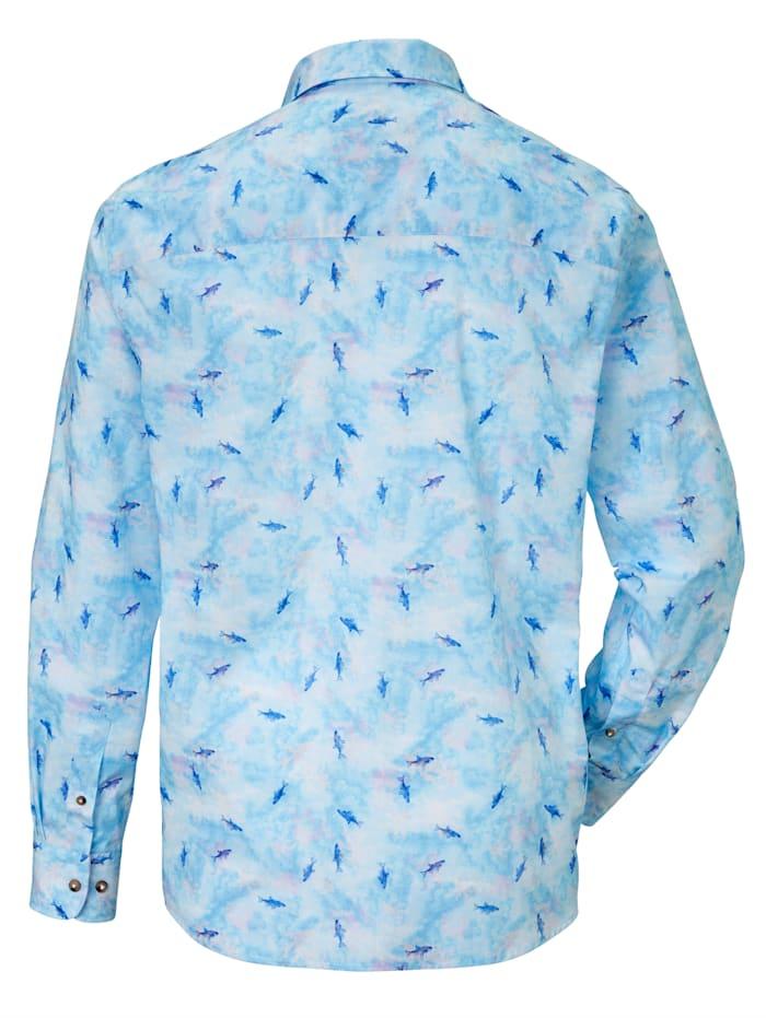 Hemd mit modischem Haifisch-Print