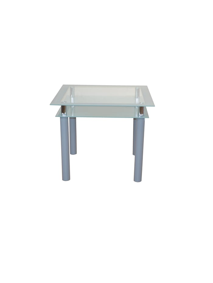 Möbel-Direkt-Online Glastisch Woody, silber