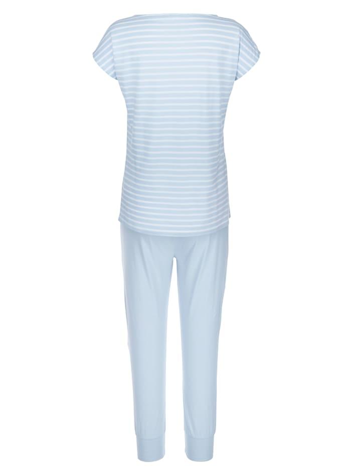 Pyjama met beleg van kant