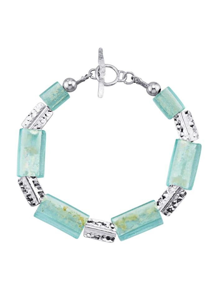 Bracelet en argent 925, Bleu