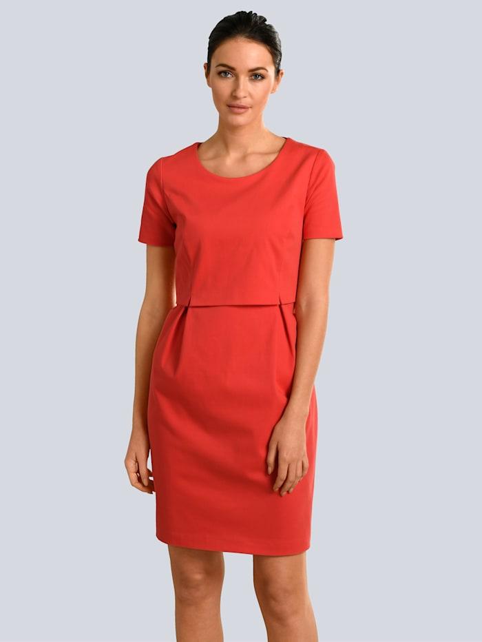 Alba Moda Kleid im modischen Layer-Look, Rot