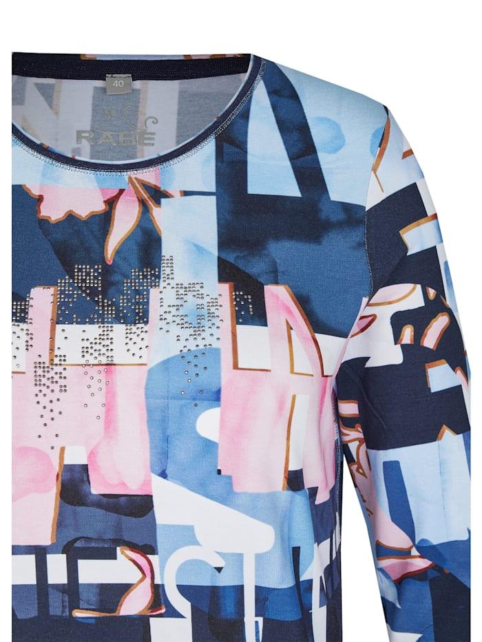 Shirt mit abstraktem Allover-Muster und Lettering