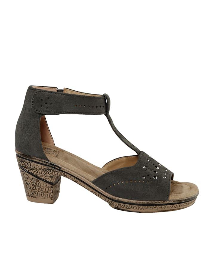 Sandale mit Klettriegel an der Fessel
