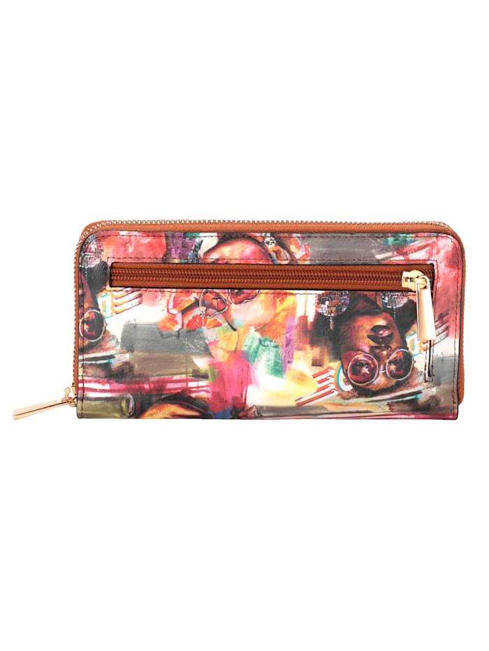 Portemonnee van vrolijk gekleurd softmateriaal