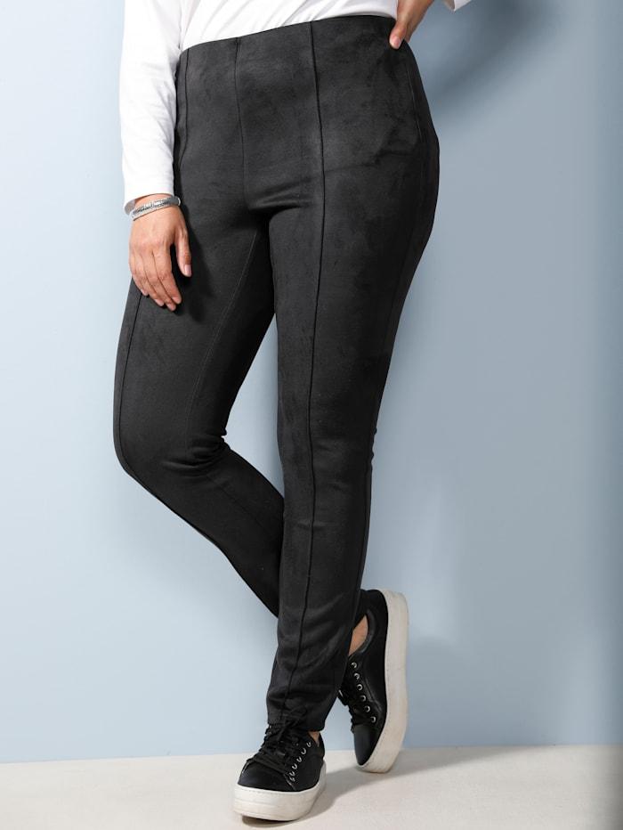 MIAMODA Hose mit streckender Naht, Schwarz