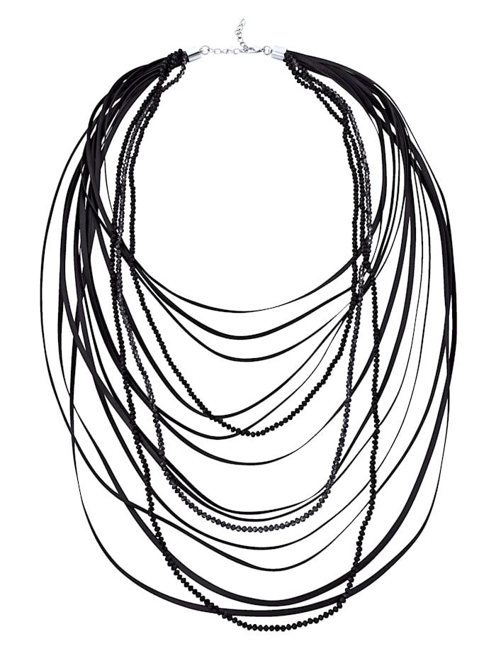 KLiNGEL Halskette mehrreihig, Schwarz