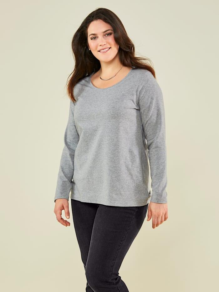 Janet & Joyce Basic Shirt, Grau