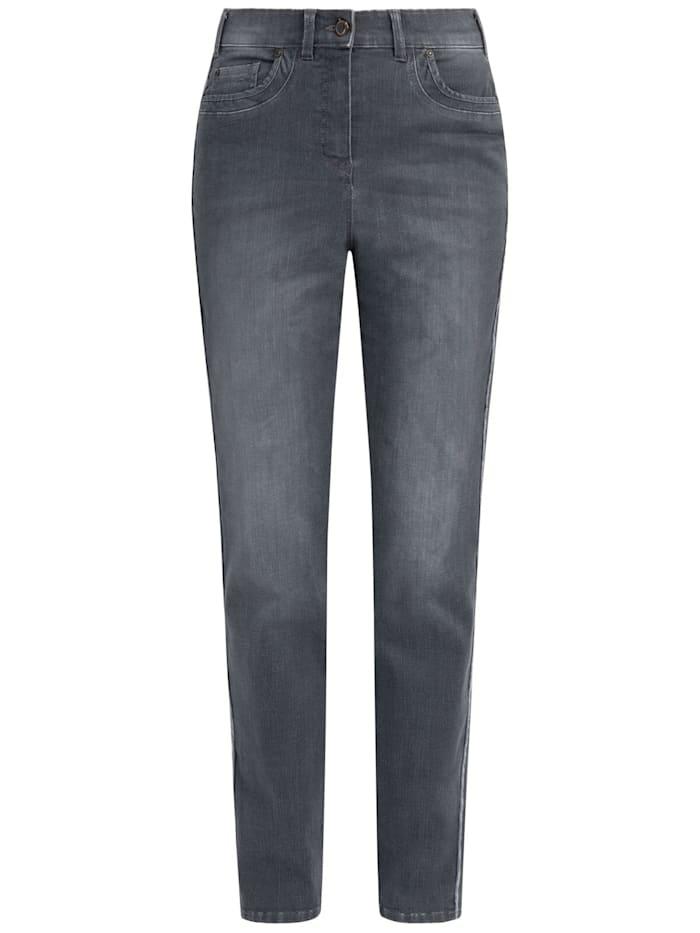 RECOVER Pants Jeans mit Reißverschlußtaschen, Grau