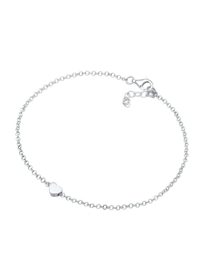 Armband Basic Trend Erbskette Herz Love Liebe 925 Silber