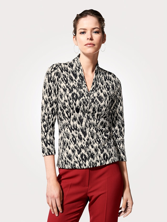 Top from luxe jacquard jersey