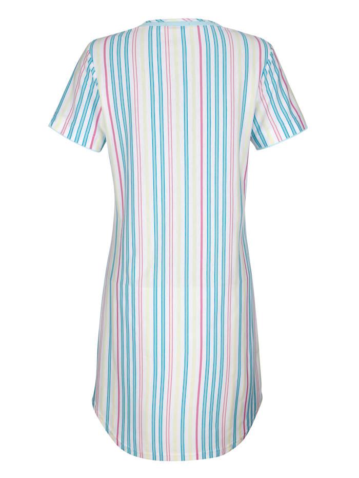 Nachthemd met contrastkleurige paspels