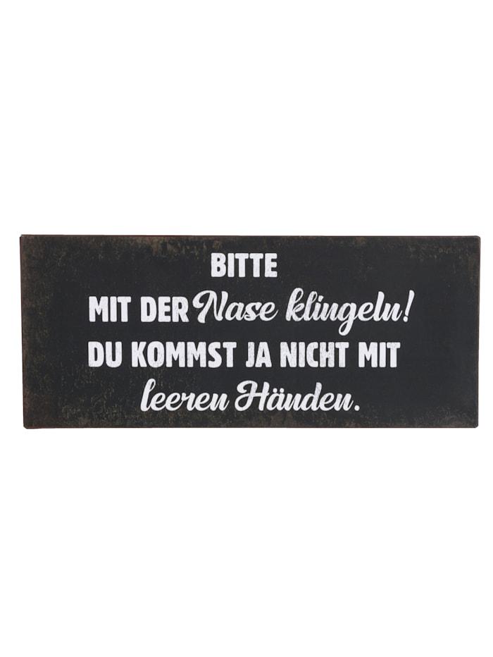 IMPRESSIONEN living Metallschild, schwarz/weiß