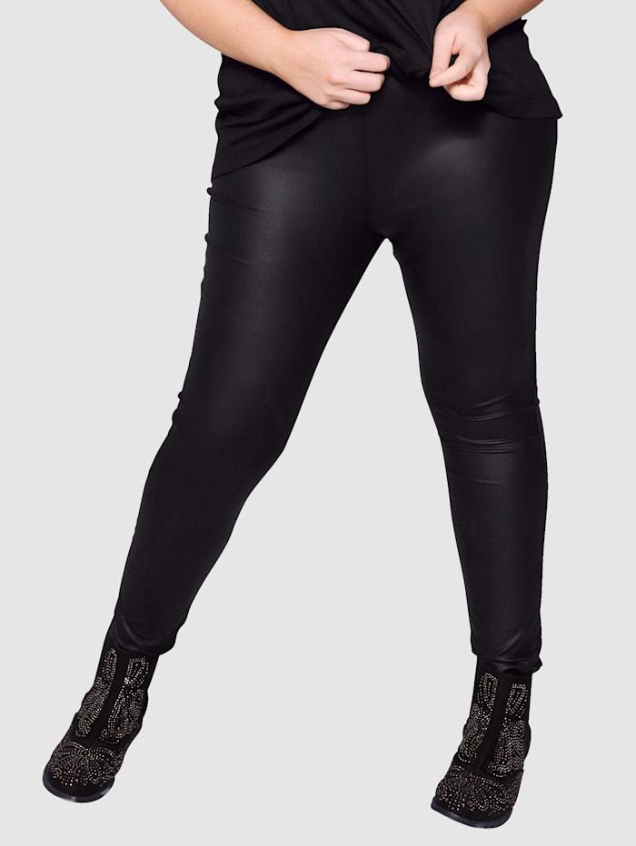 Angel of Style Legíny z imitace kůže, Černá