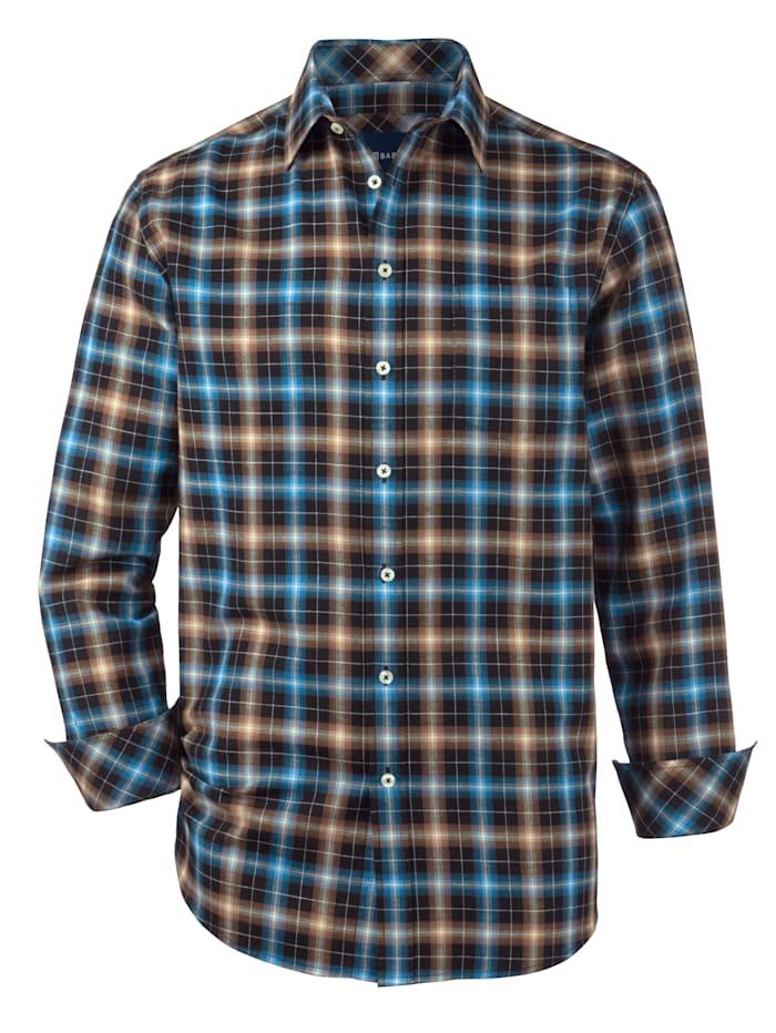 Babista Premium Hemd mit Kaschmir, Braun/Blau