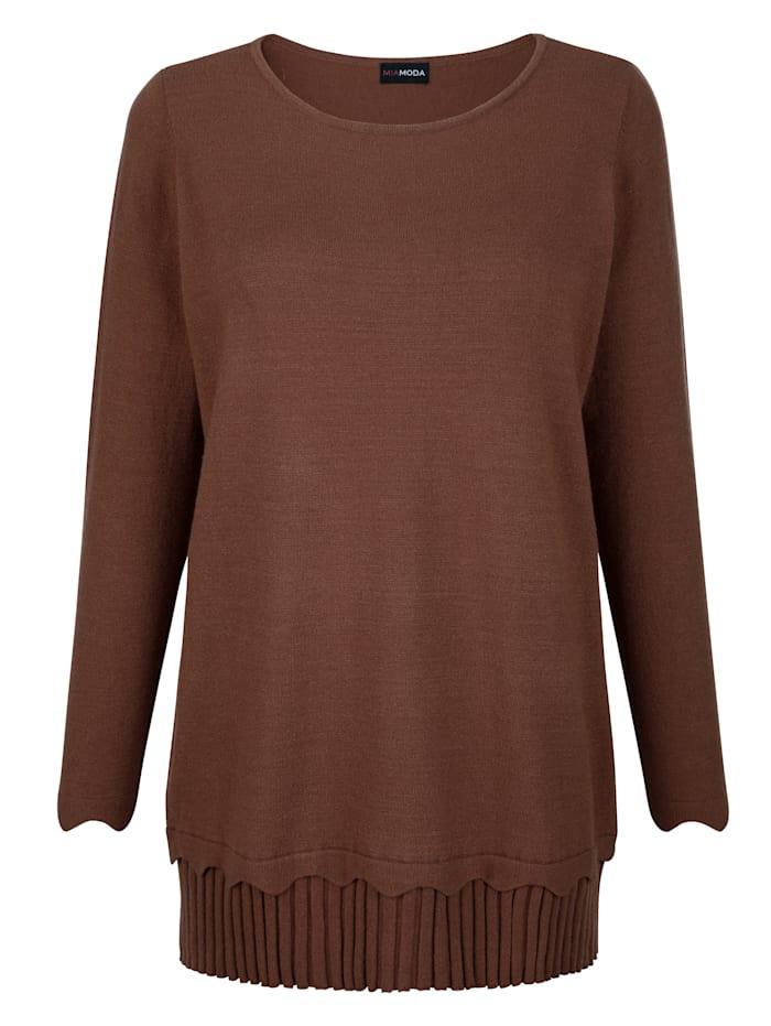 Pullover mit Plissee am Saum