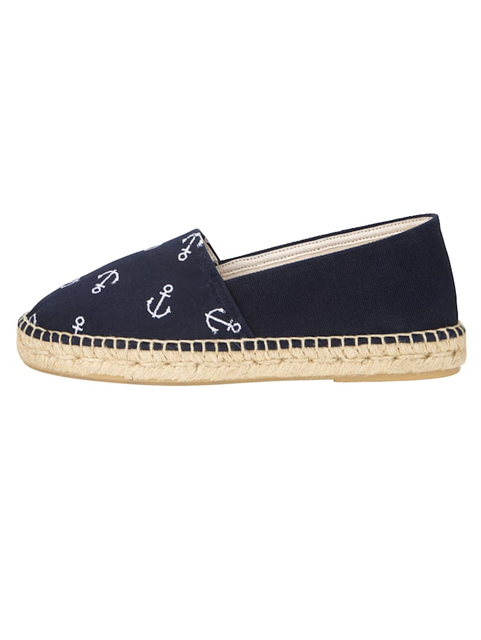 Espadrilles with nautical embroidery