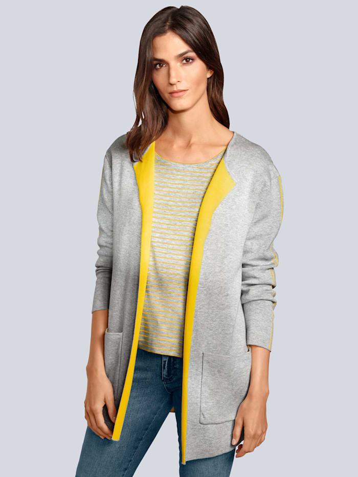 OUI Strickjacke in modischer Farbe, Grau