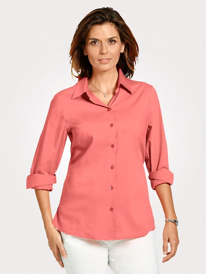 MONA Bluse mit Baumwolle, Lachs