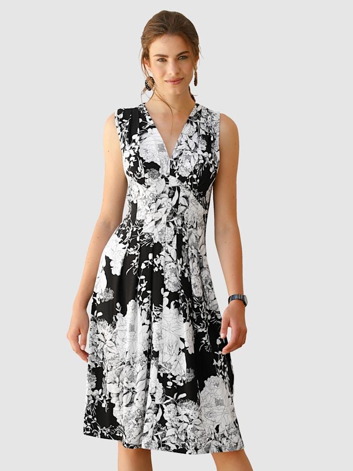 Jerseyklänning med tryckt blommönster