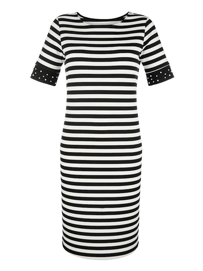 Jersey jurk met kraaltjes