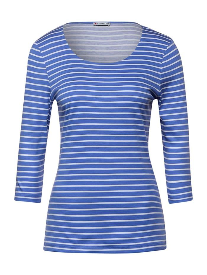 Street One Shirt mit Streifen, warm blue