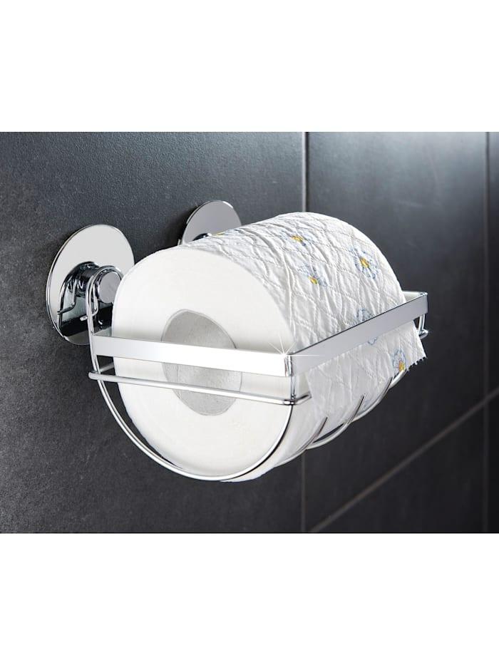 TurboFIX Edelstahl Toilettenpapierhalter, rostfrei, Befestigen ohne bohren