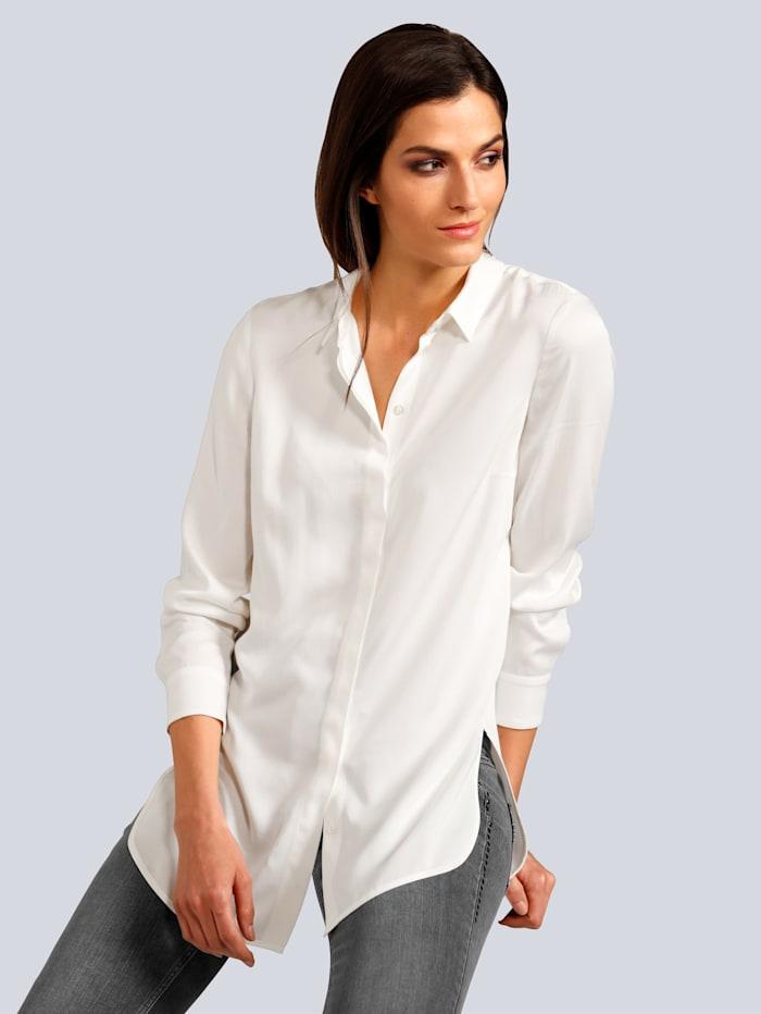 OUI Bluse aus weichfließender Viskose, Off-white