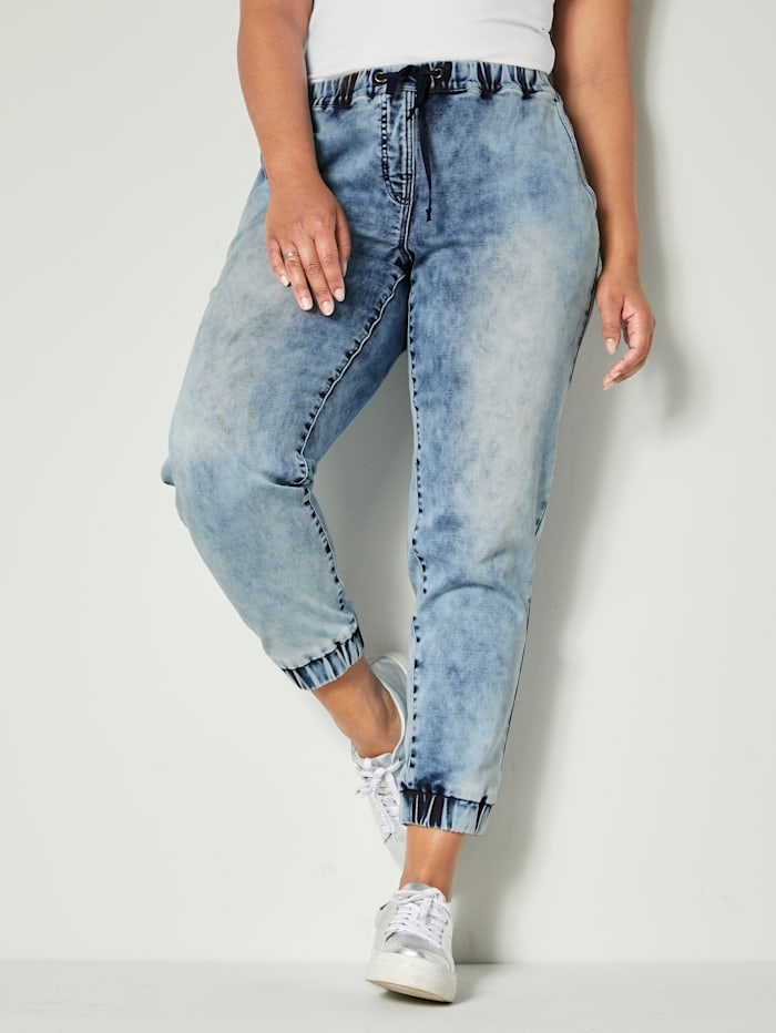Angel of Style Jogpants mit Tunnelzug, Blue bleached