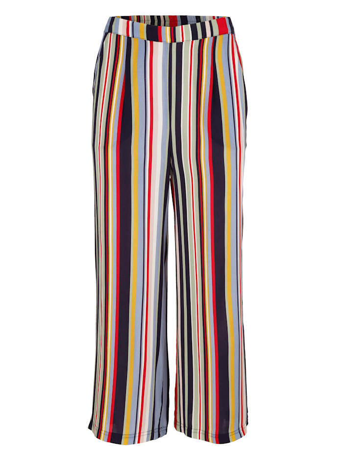 Jupe-culotte à bel imprimé rayé