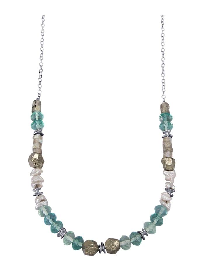 Roman Glass Collier, Silberfarben