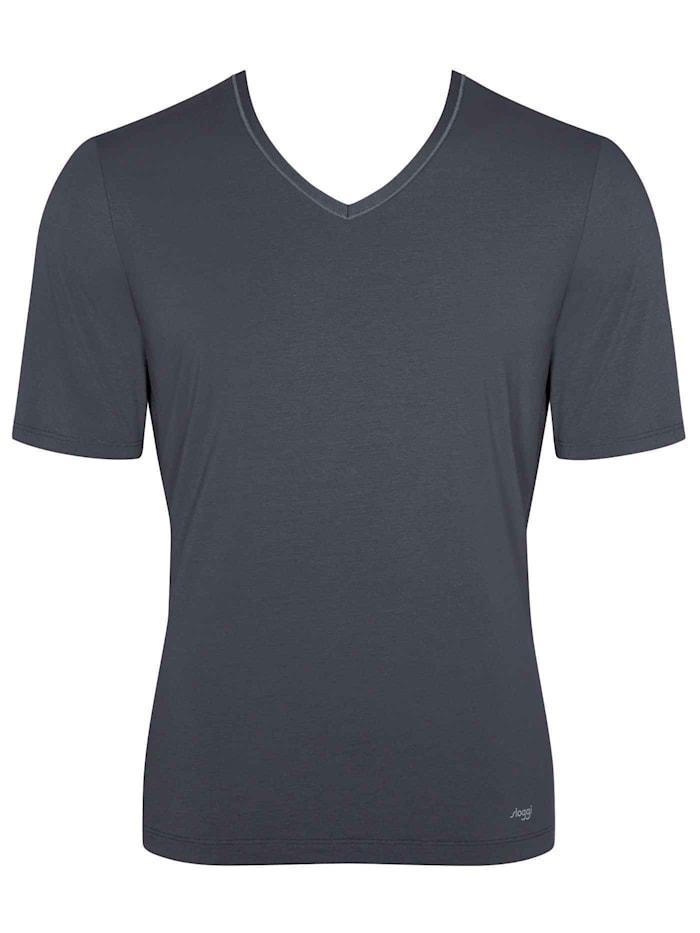 sloggi T-Shirt, V-Neck Ökotex zertifiziert, Dark Grey