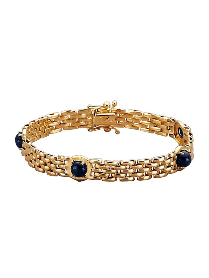 Diemer Farbstein Armband mit Saphiren, Blau