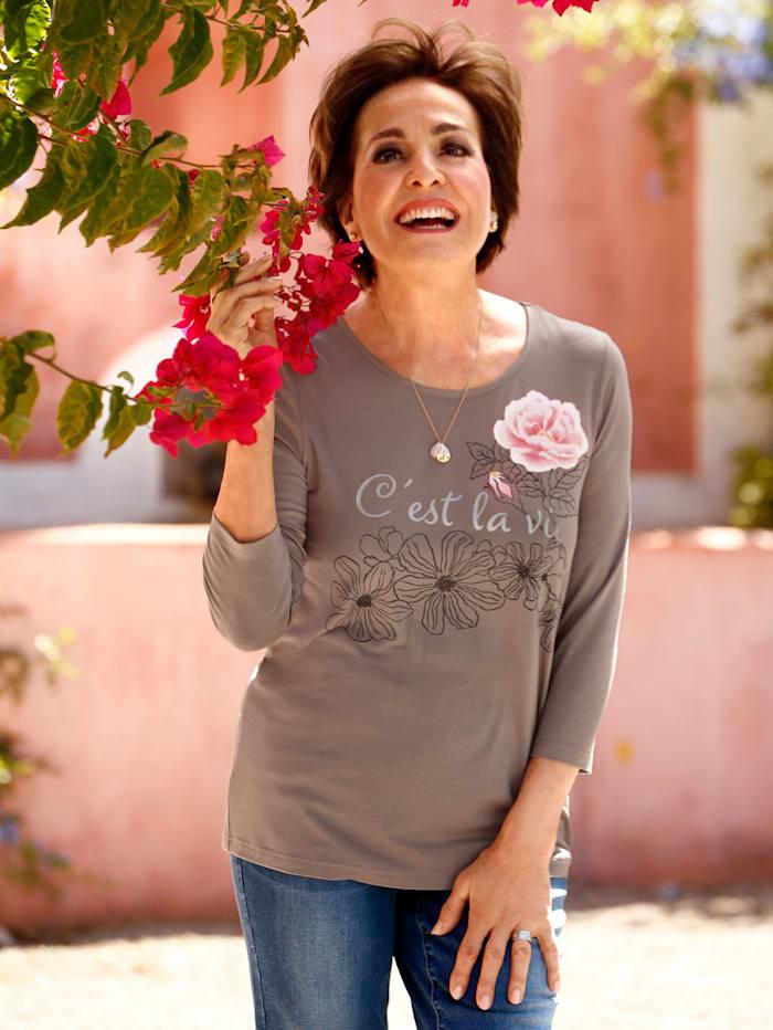 Paola Shirt mit Motivdruck, Schlamm