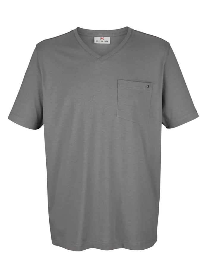 Boston Park T-shirt met borstzakje, Grijs