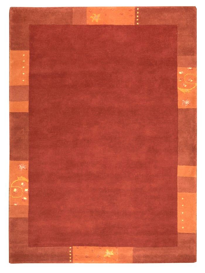 Theko®die Markenteppiche Handknüpfteppich Ganges, Rot