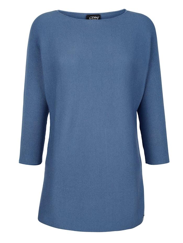 AMY VERMONT Pullover mit Fledermausärmel, Blau