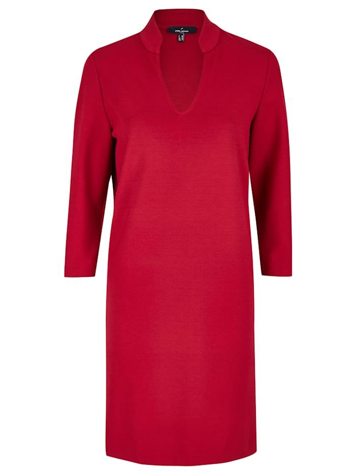 Daniel Hechter Modernes Kleid mit Stehkragen, red
